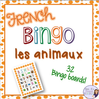 French bingo animal LES ANIMAUX