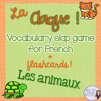 French animals game and flashcards / les animaux