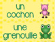 French animals word wall/ Mur de mots - Les animaux