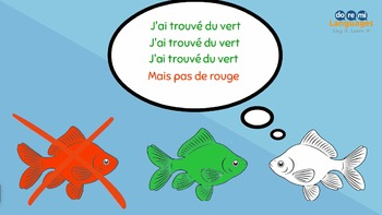 French Colors Video with Writing Activities