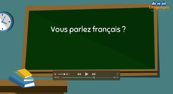 French How to Ask a Question Video and Writing Activities