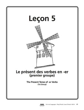 French -er Verbs Video and Writing Activities