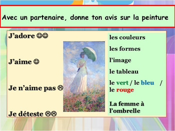 French art, shapes and colors full lesson for pre-intermediate