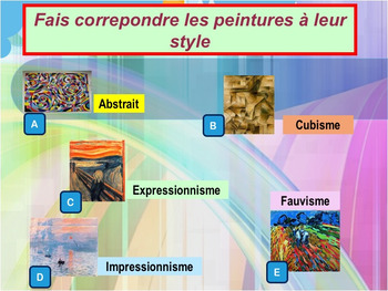 French art shapes colors PPT for pre-intermediate