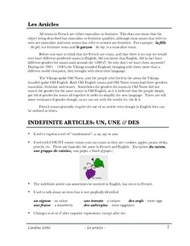 French articles