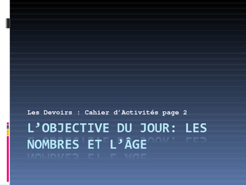 French Asking about Age