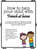 French at home - Meet the Teacher Curriculum Night - Parent Resource