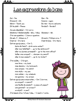 French at home - Meet the Teacher Curriculum Night - Parent Resource