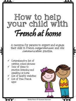 French at home - Meet the Teacher Curriculum Night - Paren