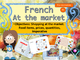French au marché shopping in market interactive activities and video