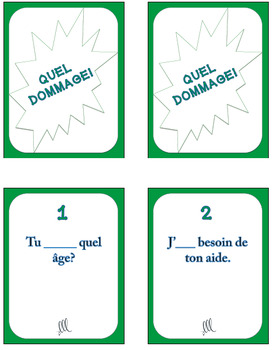 French avoir expressions game - Quel Dommage!