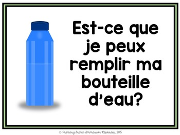 French basic classroom prompt posters