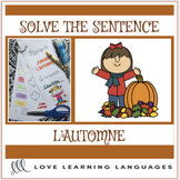 French beginning reader cut and paste - L'automne - Pour l