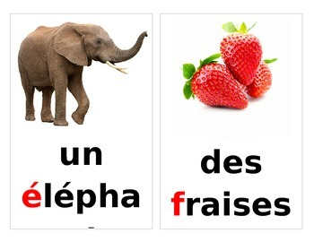 French beginning sound cards