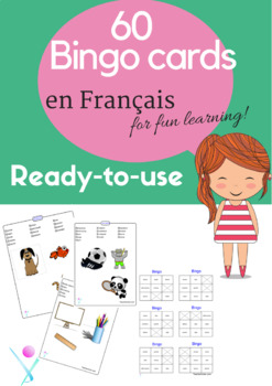 French bingo cards for beginners