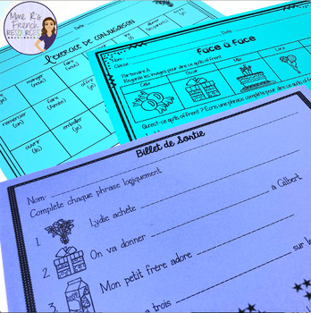French birthday party vocabulary speaking and writing LA FÊTE D'ANNIVERSAIRE