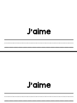 French blank book templates