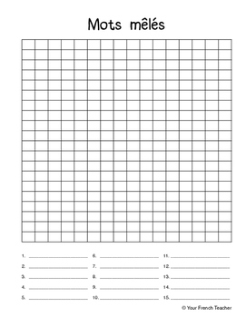 photograph regarding Blank Word Search Printable called Blank Term Glance Worksheets Training Elements TpT