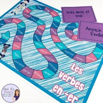 French board games verb bundle JEU DE SOCIÉTÉ