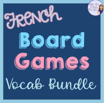 French board games vocabulary bundle JEU DE SOCIÉTÉ