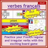 French Fun - les verbes: board game - practice regular & i