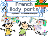 French body parts, le corps for beginners NO PREP