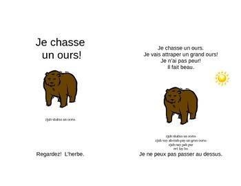 French book for children- Bear Hunt