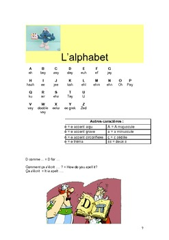French booklet for beginners with vocabulary and revision