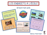 French boom cards, les endroits à l'école, places in school in French
