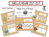 French boom cards, telling time in French, quelle heure est-il