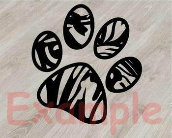 French bulldog Silhouette SVG clipart cut layer cute Dog paw Family Pet 820S