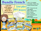 French bundle 2 At home, a la maison: Unit plan + PPT Lessons for beginners