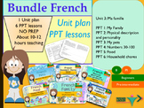 French bundle 3 My family, ma famille: Unit plan + PPT Les