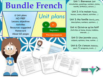 French bundle Unit plans for beginners