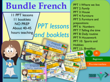 French bundle pack House for beginners NO PREP