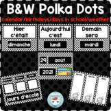 French calendar set | birthdays | days in school CALENDRIER | POLKA DOTS