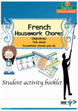 French housework chores, les tâches ménagères booklet for beginners