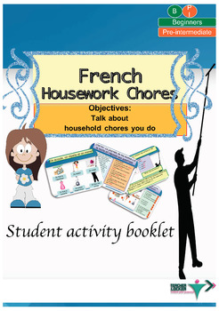 French chores for beginners booklet NO PREP