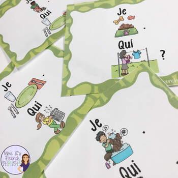 French chores vocabulary bundle LES TÂCHES MÉNAGÈRES