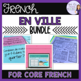 French city and places vocabulary speaking and writing bundle EN VILLE