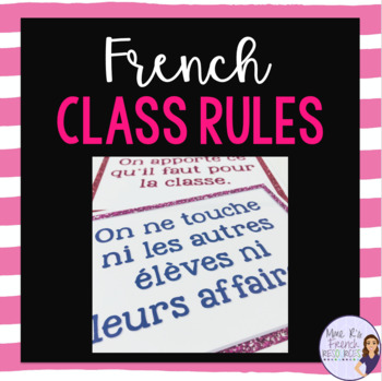 French class rules for secondary - glitter version