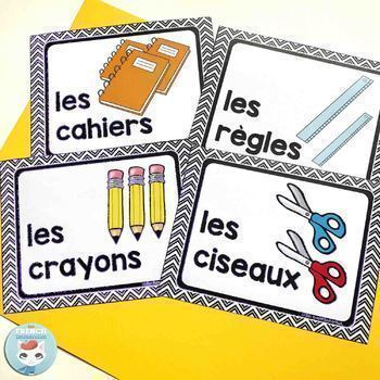 French classroom decor set MODERN CHEVRON