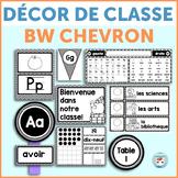 French classroom decor set MODERN CHEVRON bundle