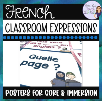 French classroom expressions posters -rainbow version