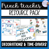 French classroom forms, decorations, and posters BUNDLE