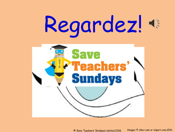 French classroom instructions Lesson plan, PowerPoint (with audio) & Flashcards