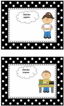 French classroom jobs (editable)