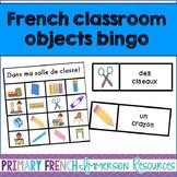 French classroom objects bingo - Dans ma salle de classe