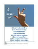 French classroom poster encourages independent learning