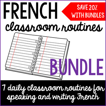 French classroom routines BUNDLE
